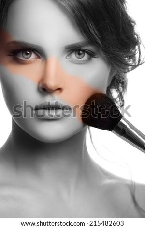 Makeup Face. Make-up Concept.  - stock photo