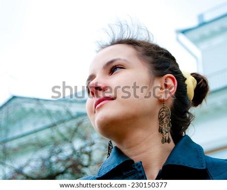 Makeup Joy Portrait  - stock photo