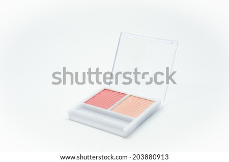Makeup pastel color isolated on white background - stock photo