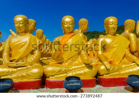Makha Bucha Buddhist Memorial Park, Nakhonnayok, Thailand. - stock photo