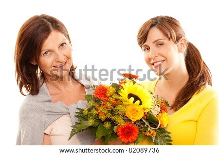 making a gift - stock photo