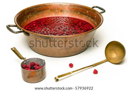 Making a jam - stock photo