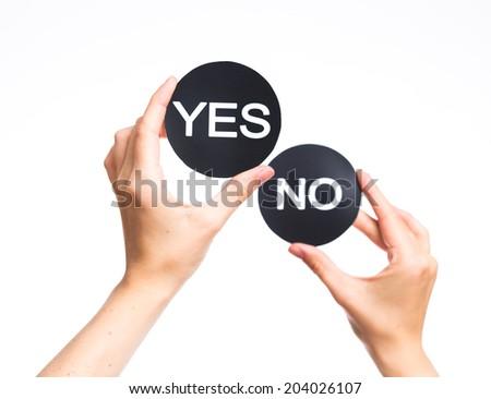 making decision - stock photo