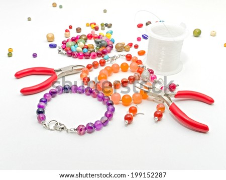 Making jewelry - stock photo