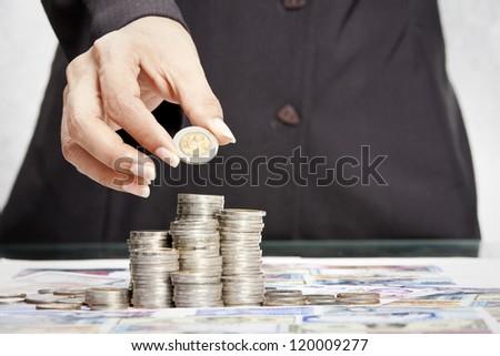 Making money concept - stock photo