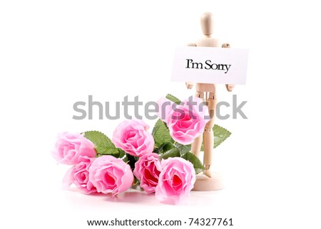 Making Peace by Apology - stock photo