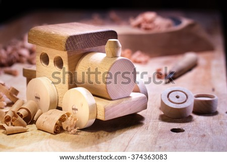 Making Wooden Toys. - stock photo