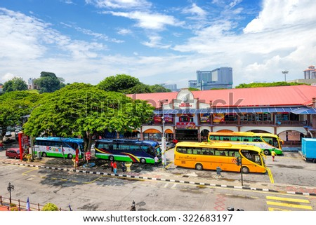 MALACCA, MALAYSIA - AUG 7, 2015: Day view of Medan Samudera at Malacca city on Aug 7, 2015 in Malacca, Malaysia. Malacca has been listed as a UNESCO World Heritage Site since 7 July 2008.  - stock photo