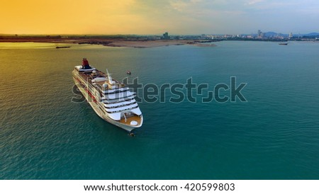 Malacca, Malaysia-May 14, 2016: Star Cruises Superstar Virgo docked at Ocean Terminal during sunset, Star Cruises is the third largest cruise line in the world. - stock photo