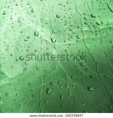 Malachite marble texture background with Water Drops  - stock photo