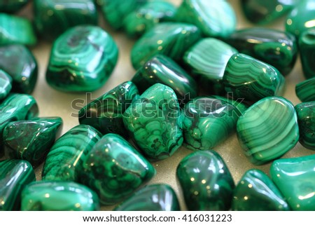 malachite mineral texture as nice natural background - stock photo