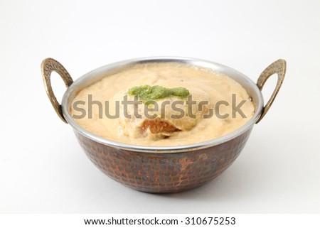 malai kofta curry in a bowl - classic North Indian dish. vegetarian alternative to meatballs - stock photo