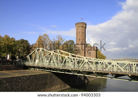 Malakoff tower in Cologne - stock photo