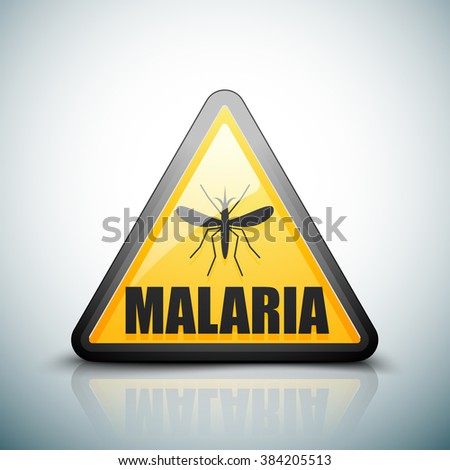 Malariae danger sign - stock photo