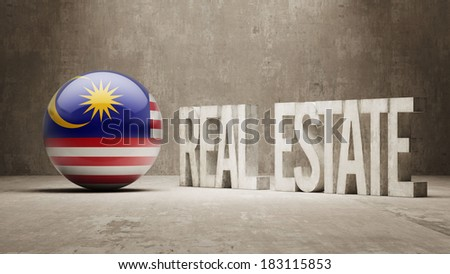 Malaysia High Resolution Real Estate Concept - stock photo