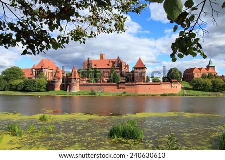 Malbork medieval castle in Poland. UNESCO World Heritage Site. - stock photo