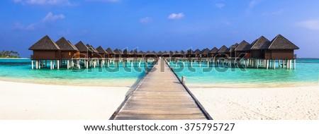 Maldives, luxury holidays - stock photo