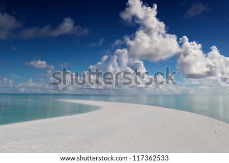 Maldives, Rasdhoo Atoll, Kuramathi Island - stock photo