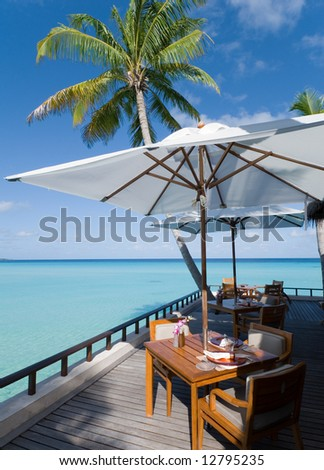 maldives seascape. Reethi Rah island. - stock photo