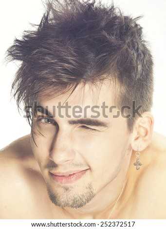 male fashion model  - stock photo