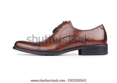 Male fashion with shoes on white - stock photo