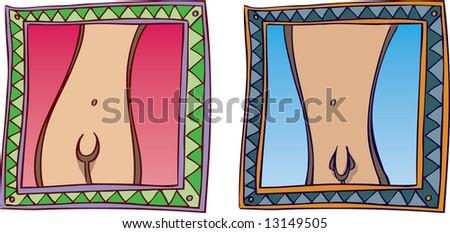 Male Female Icons - stock photo