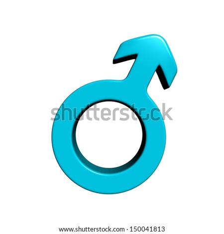 Male gender symbol - stock photo