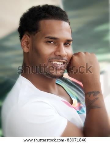 Male model - stock photo