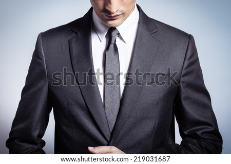 Male model in a suit - stock photo
