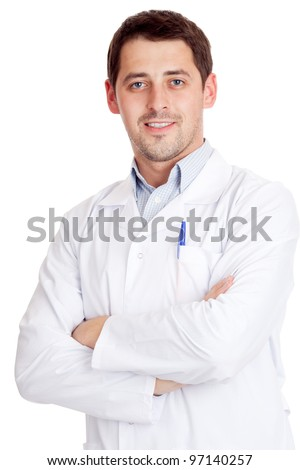 Male scientist - stock photo