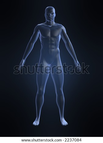 male shape - stock photo