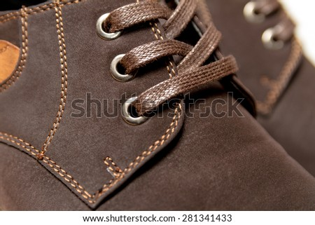 Male shoes. close-up - stock photo