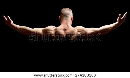 Male, strength, human. - stock photo
