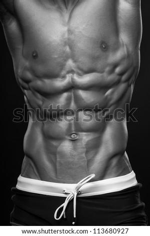 Male torso - stock photo