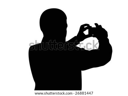 male tourist photographer - stock photo