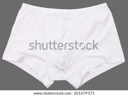Male underwear isolated on a gray background. - stock photo