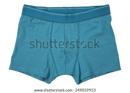 Male underwear isolated on white background - stock photo