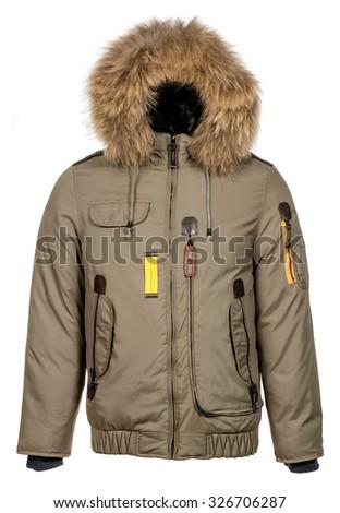 male winter jacket  - stock photo