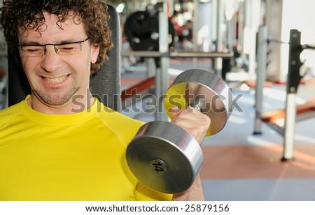 Male workout - stock photo