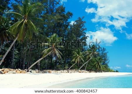 Malibu beach at Koh Phangan Island, Thailand, Asia - stock photo