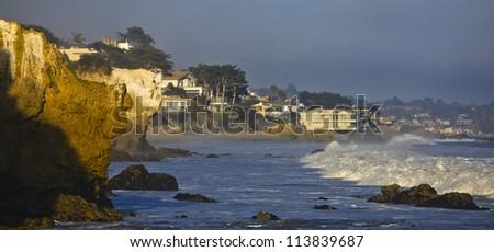 Malibu beach in Los Angeles, USA - stock photo