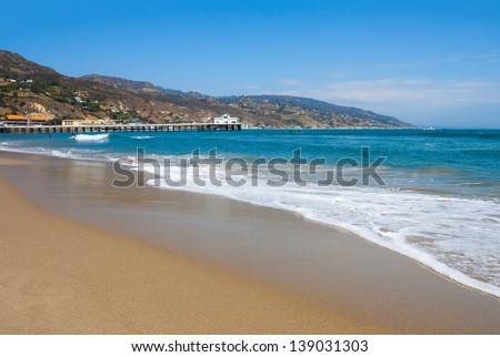 Malibu Lagoon State Beach in Malibu, California - stock photo