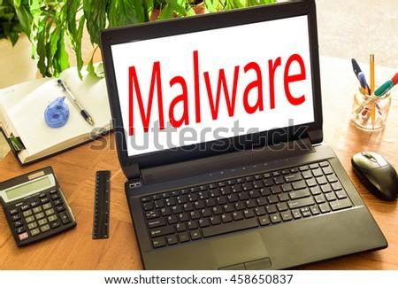 Malware Concept - stock photo