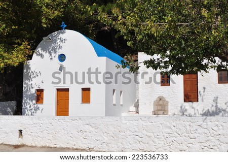 Mammas church on island Kos - stock photo