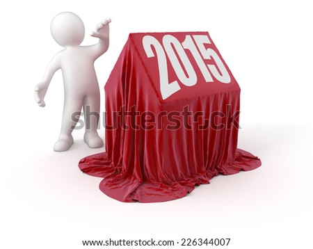 Man and House 2015 - stock photo