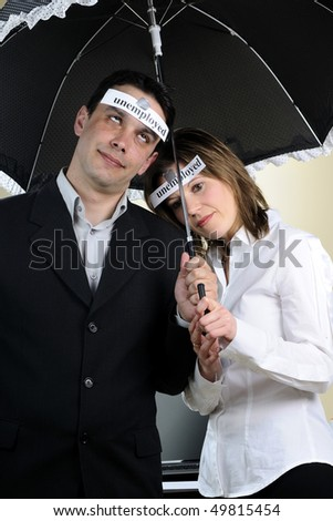 man and woman expressing disappointment - stock photo