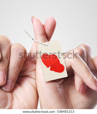 Man and woman hands isolated - stock photo