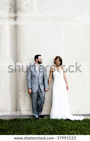 Man and woman in formal wear - stock photo