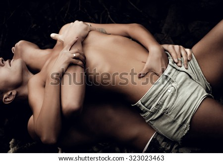 man and woman in love - stock photo