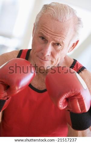 Man Boxing At Gym - stock photo